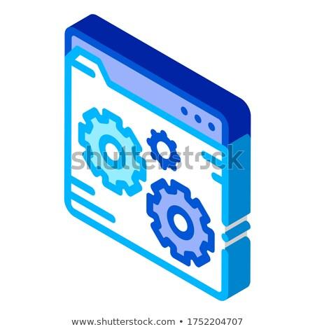 Dosya kodlama izometrik ikon vektör Stok fotoğraf © pikepicture