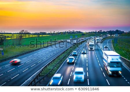Англии шоссе знак зеленый облаке улице знак Сток-фото © kbuntu