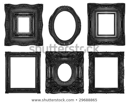 Retro Revival Old Ellipse Black Frame Stock photo © adamr