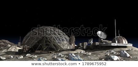maan · sterren · abstract · nachtelijke · hemel · ruimte · Blauw - stockfoto © sahua