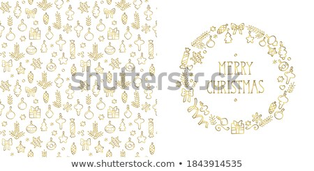 Christmas golden with white snowflakes. EPS 8 Stock photo © beholdereye