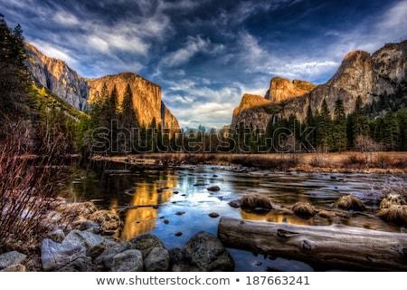 Yosemite vallei hdr hoog dynamisch tunnel Stockfoto © markross