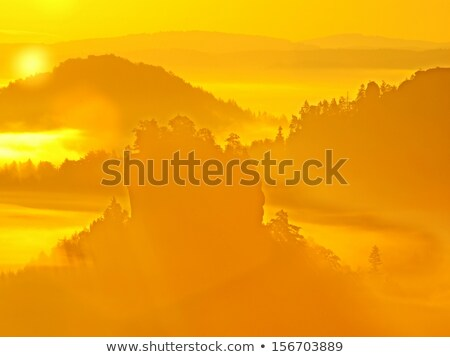 2 · 山 · 日の出 · 山 · ウクライナ · 雪 - ストックフォト © wildman