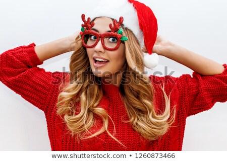 Bela mulher moda seis isolado imagem Foto stock © Pilgrimego