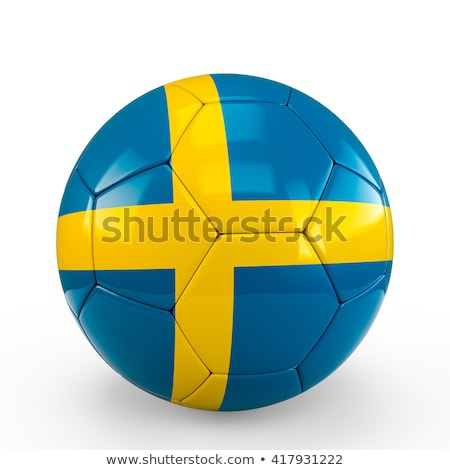 Stock photo: sweden soccer ball