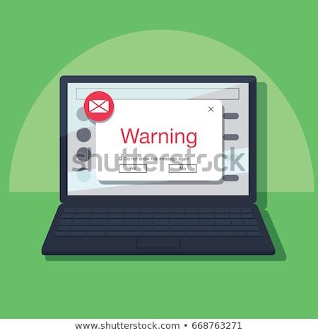 Stok fotoğraf: Illustration Of Phishing Fraud Online Via E Mail
