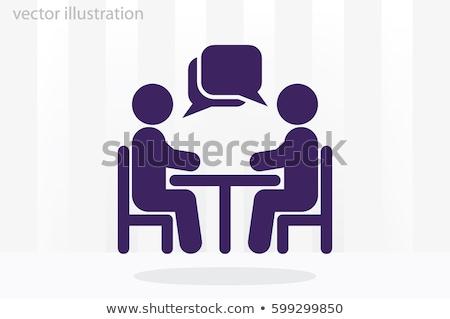 Abstract gente che parla business party capelli comunicazione Foto d'archivio © pathakdesigner