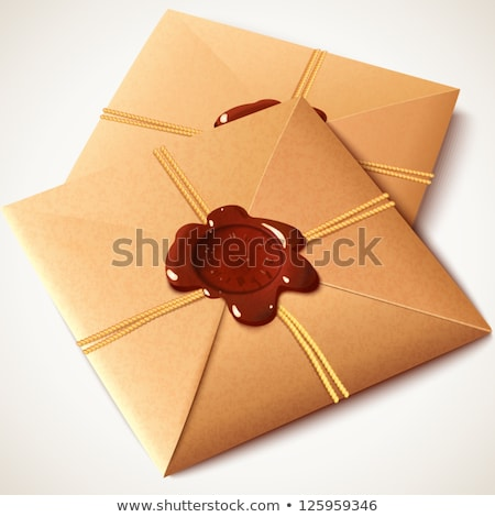 of sealing wax seal on old parcel Stock photo © basel101658