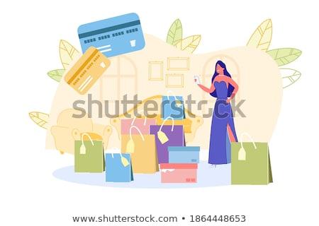 Boldog nők vétel vektor nő divat Stock fotó © yura_fx