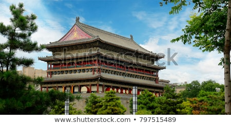 drum tower in xian china stock photo © bbbar