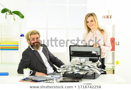 a couple of case and the money stock photo © oleksandro