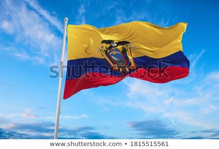 политический флаг Эквадор Мир стране Сток-фото © perysty