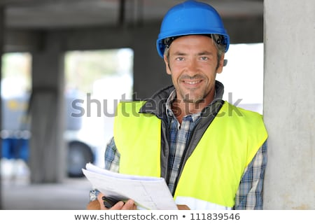 construction worker in the middle stock photo © lisafx