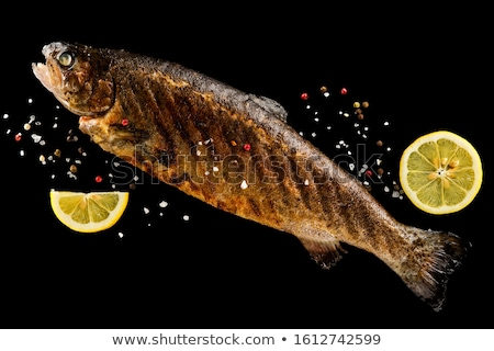 Grilled trout on barbecue Stock photo © franky242