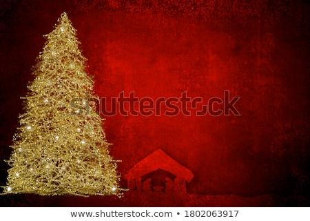 Christmas card, letter drawing grunge Bethlehem star Stock photo © marimorena