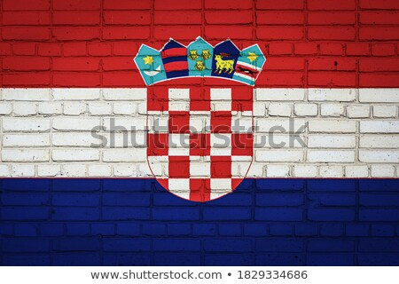 Flag of Coatia on brick wall stock photo © creisinger