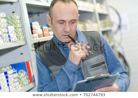 man taking inventory stock photo © photography33