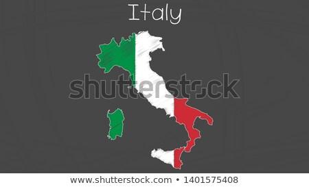 Włochy · Pokaż · italian · flag · 3D · tle - zdjęcia stock © marinini