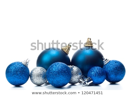 veel · Blauw · christmas · witte · exemplaar · ruimte - stockfoto © rob_stark
