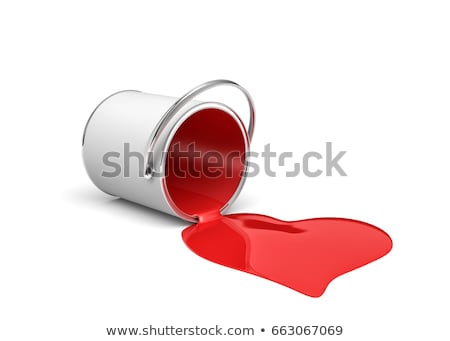 Can with a bright red paint Stock photo © moses