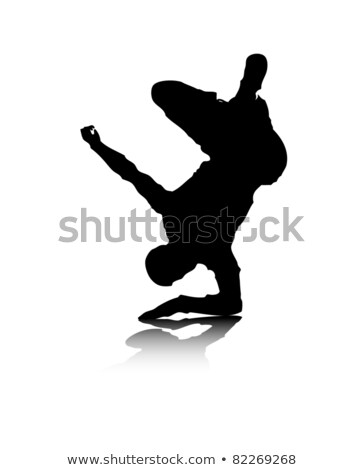Hip hop dancer freezed his movements Stock photo © get4net