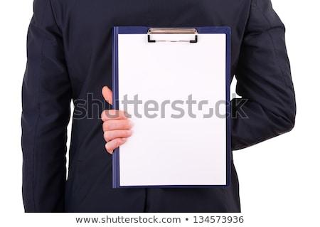 Man hiding behind a clipboard Stock photo © photography33
