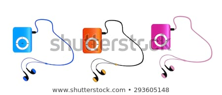 Azul reproductor mp3 vector Cartoon cable sombra Foto stock © pcanzo