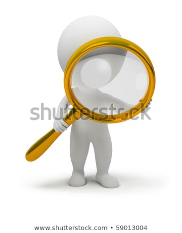 3d small people holds a magnifier stock photo © anatolym