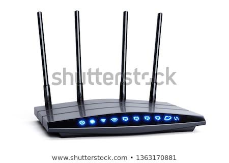 Sans fil routeur isolé blanche ordinateur technologie Photo stock © deymos