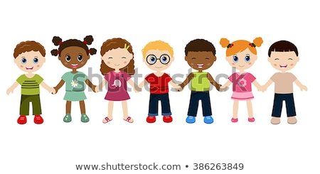 cute multicultural children hand in hand   Stock photo © creative_stock