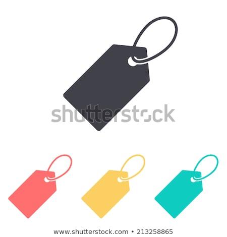 Prezzo tag vendita testo rosso etichetta Foto d'archivio © Lightsource