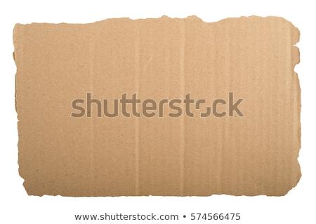 Karton felirat fogantyú törődés kartondoboz háttér Stock fotó © AGorohov