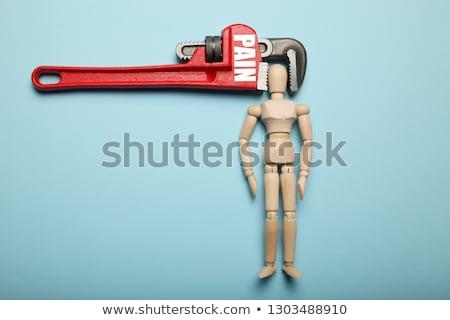 Homme tête étau couleur personne dépression Photo stock © photography33