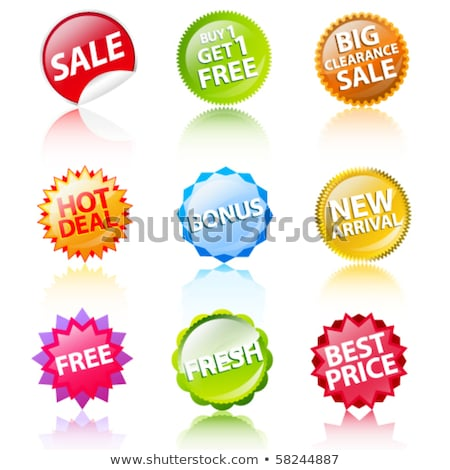 Stock photo: hot deal in red star banner