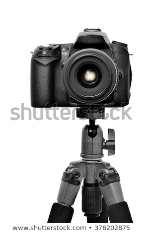 front view of modern dslr photo camera Stock photo © Grazvydas