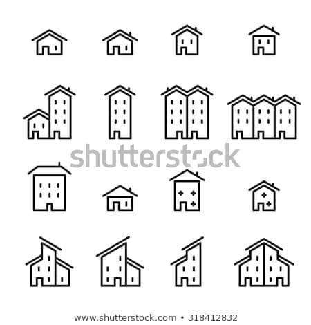 Townhouse icon Stock photo © cteconsulting