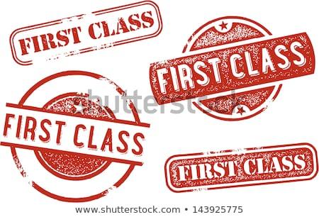 ファーストクラス ゴム スタンプ コレクション メール 旅行 ストックフォト © squarelogo