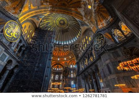 interior · istambul · Turquia · parede · criança · arte - foto stock © sophie_mcaulay