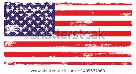 Bayrak amerikan grunge çerçeve ordu kutlama Stok fotoğraf © tintin75