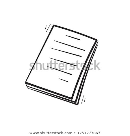 Kéz rajz információ jel fehér papír toll Stock fotó © snyfer
