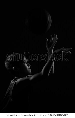 Souriant garçon noir dramatique côté éclairage Photo stock © Freshdmedia