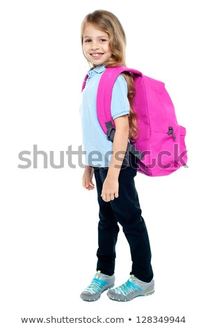 Charming young girl ready to attend class Stock photo © stockyimages