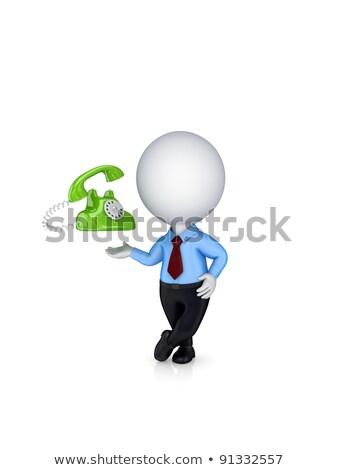 3D pequeño hombre pequeño blanco Foto stock © karelin721