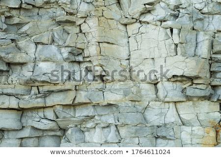 Kaya uçurum katman doğal taş Stok fotoğraf © chatchai