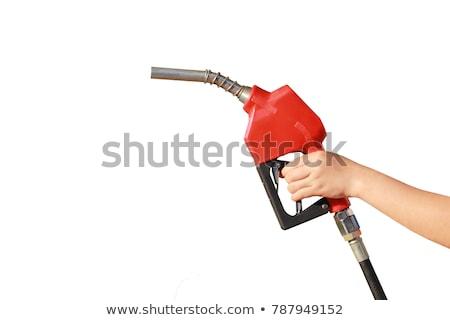 woman holding gas nozzle stock photo © iofoto