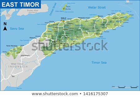 East Timor map Stock photo © Volina