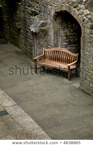 The detail of ruins abbey in Glastonbury Stock photo © CaptureLight