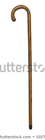 old walking stick isolated on white stock photo © michaklootwijk