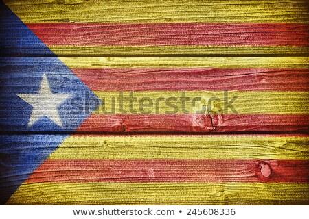 Wooden Aragon flag. Stock photo © asturianu