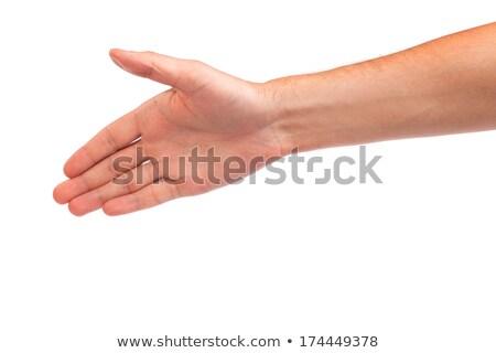 Hand man persoon deal geïsoleerd Stockfoto © bloodua